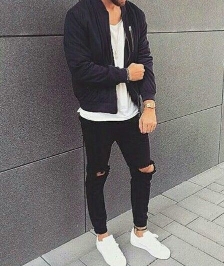 black stan smith outfit