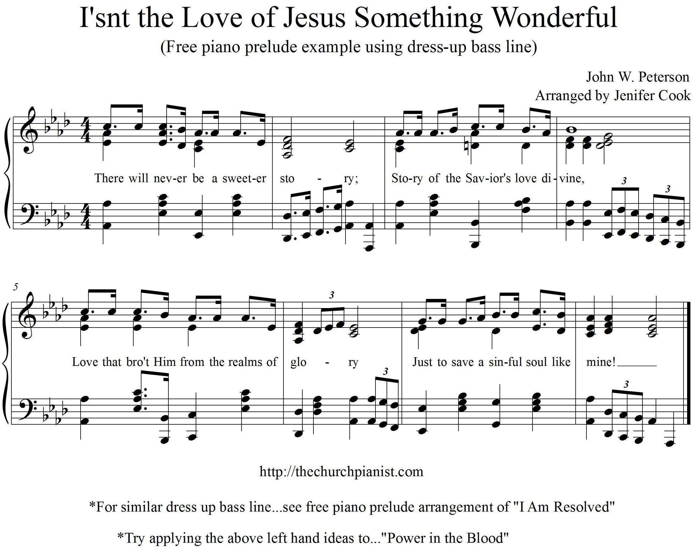 Isn't the Love of Jesus Something Wonderful FREE excerpt