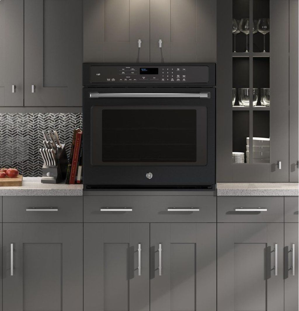 Cool 41 Modern Dark Grey Kitchen Design Ideas More At Https Homishome Com 2018 12 1 Grey Kitchen Designs Dark Grey Kitchen Cabinets Slate Appliances Kitchen