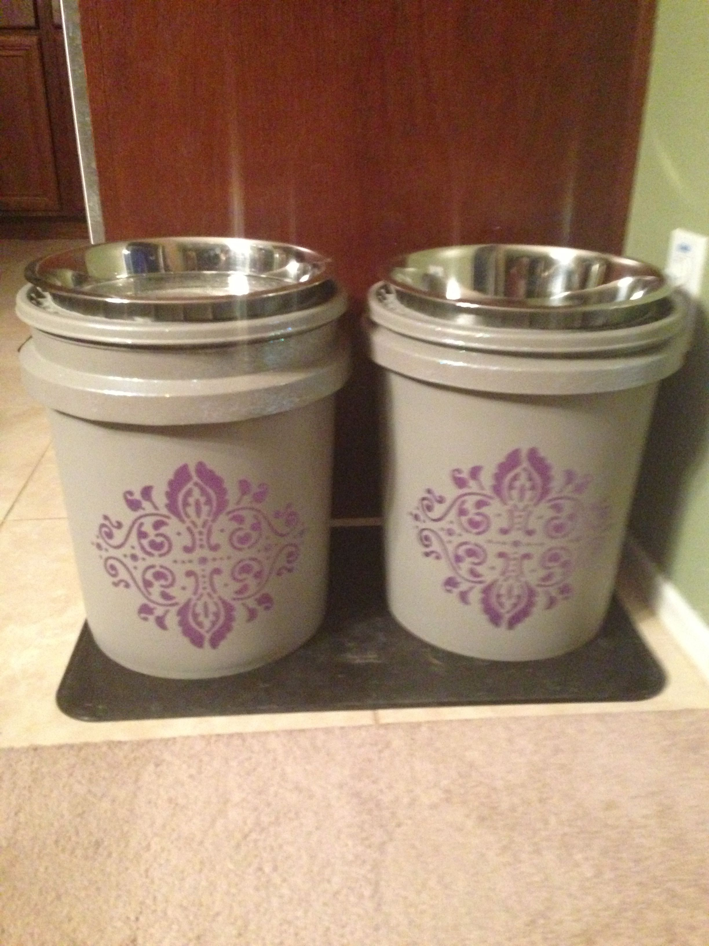 I Made Dog Food Bowls For My Great Dane Out Of 5 Gallon Buckets