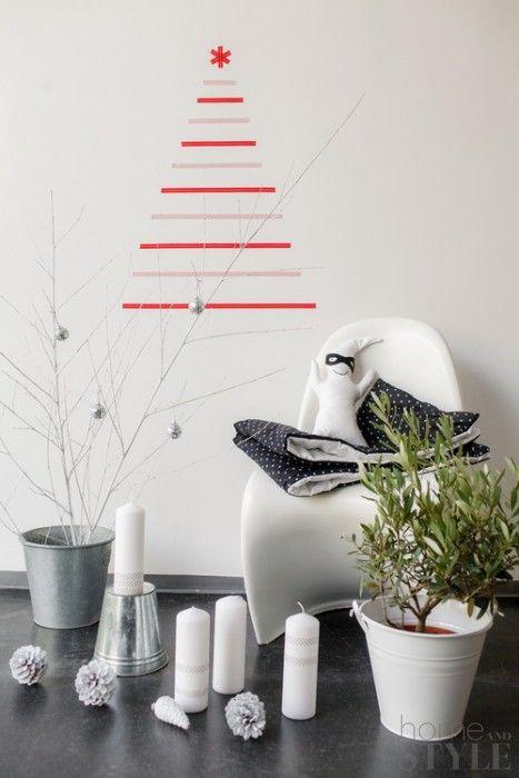 Alternatieve kerstboom van tape Christmas Pinterest Xmas, Xmas