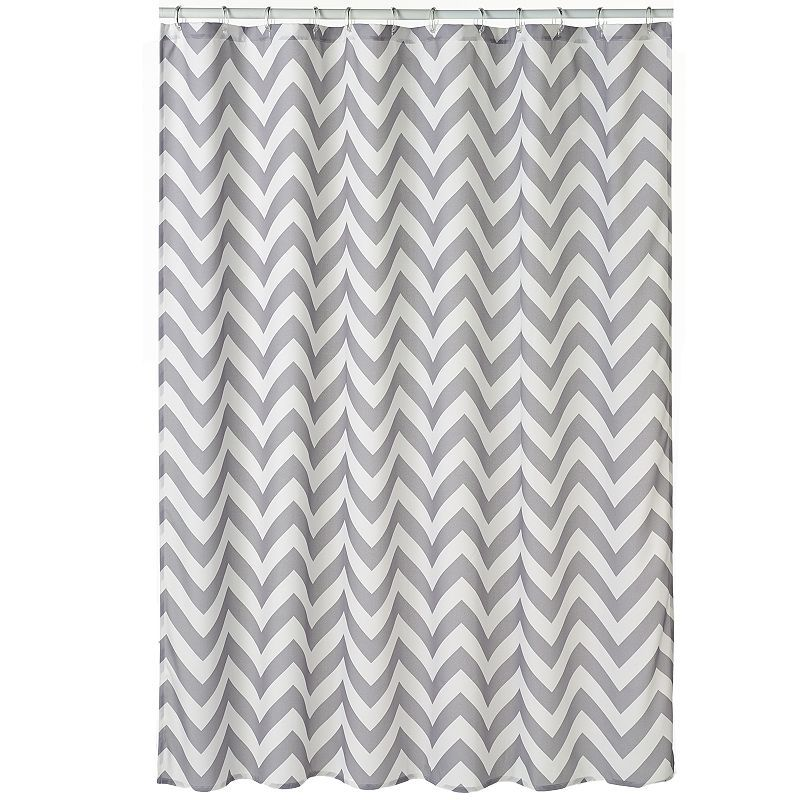 Home Classics Chevron Fabric Shower Curtain Fabric Shower