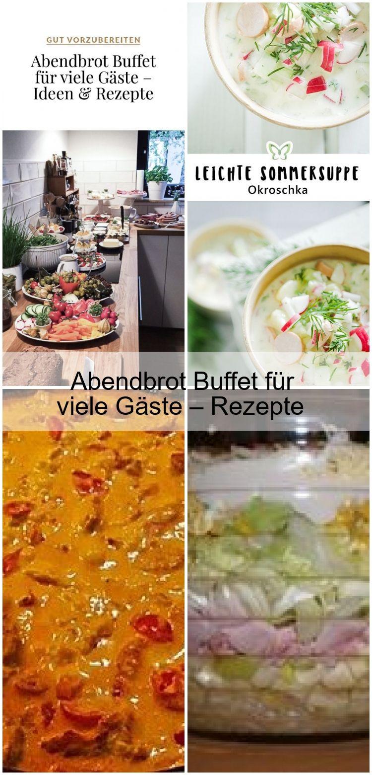Abendbrot Buffet für viele Gäste – Rezepte & Ideen,  #Abendbrot #Buffet #für #Gäste #Ideen #R... #okroschkarezept