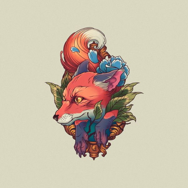 Tattoo fox by Dima Argumentum, follow on Behance. You can also follow me on behance – Timothy Wilson