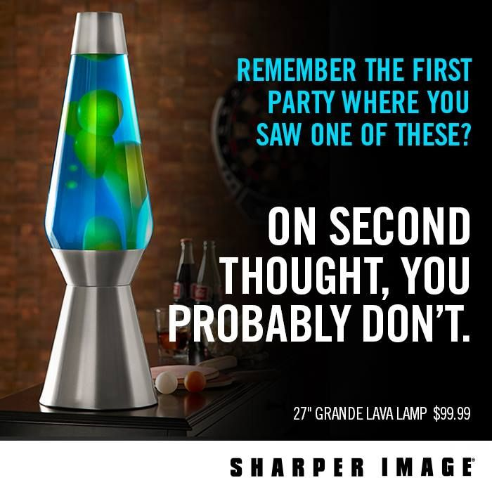 Happy 50th Anniversary to The Lava Lamp. Basements and bedrooms just wouldn't be the same without you.  https://www.facebook.com/SharperImage