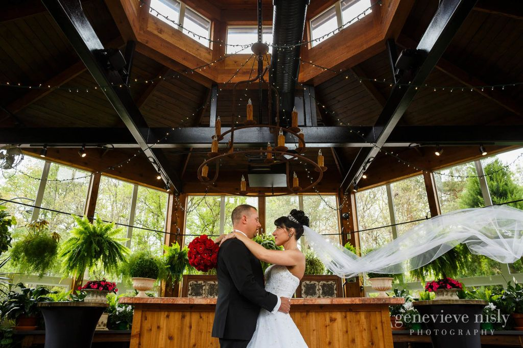 outdoor wedding ceremony sites in akron ohio%0A Brie and Groom portrait inside the Greenhouse at Gervasi Vineyard for their  Canton Ohio wedding