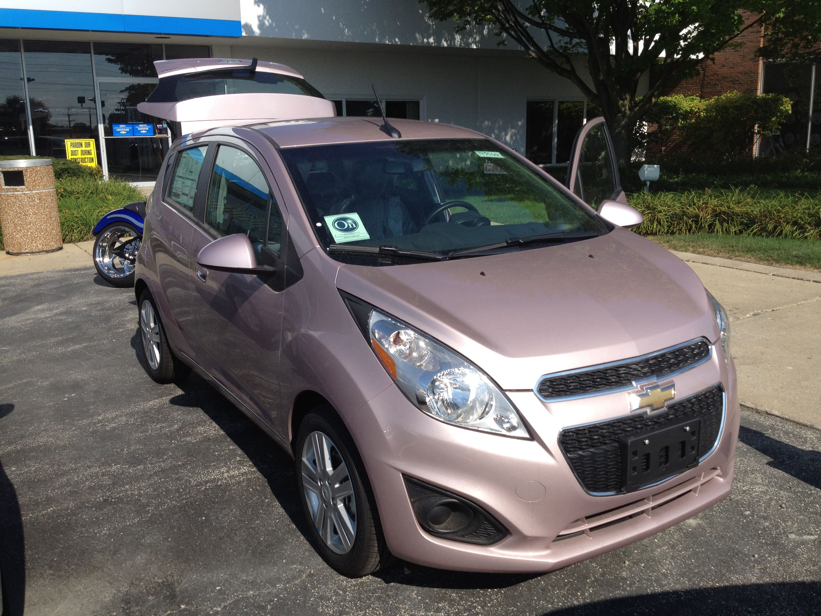 New techno pink chevy spark http www chevrolet com