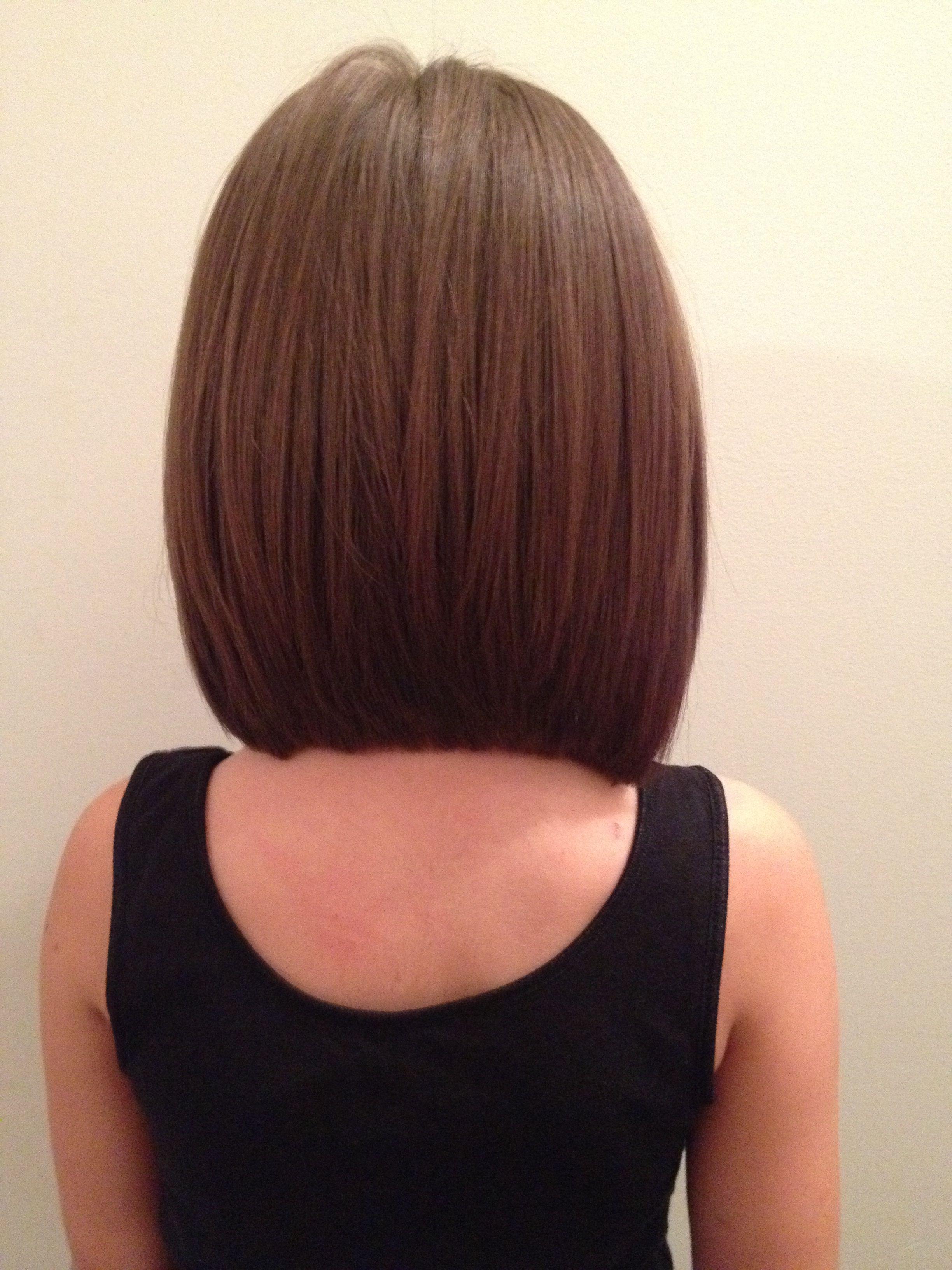 long angled bob view hair