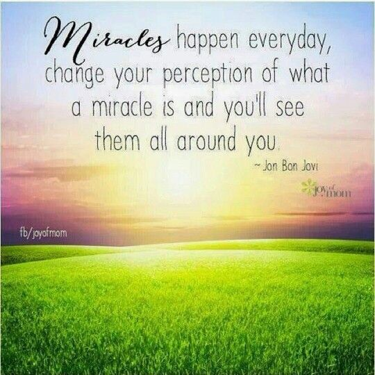 Miracle Quote By Jon Bon Jovi Miracle Quotes Miracles Happen Everyday Miracles