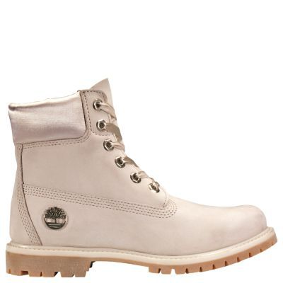 2103d3ac194e Timberland Women s 6-Inch Premium Waterproof Boots w Satin Collar Light  Taupe Nubuck