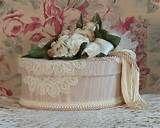 Image detail for -Victorian Keepsake / Trinket / Hat Box - Beige Oval - Vintage Style ...