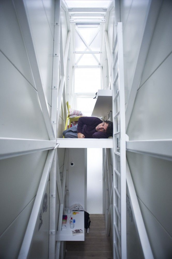 Inside The Keret House The World S Skinniest House By Jakub Szczesny Unusual Homes Narrow House Tiny House Interior