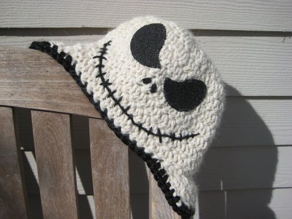 Handmade Crocheted Nightmare Before Christmas Baby Bib With ...