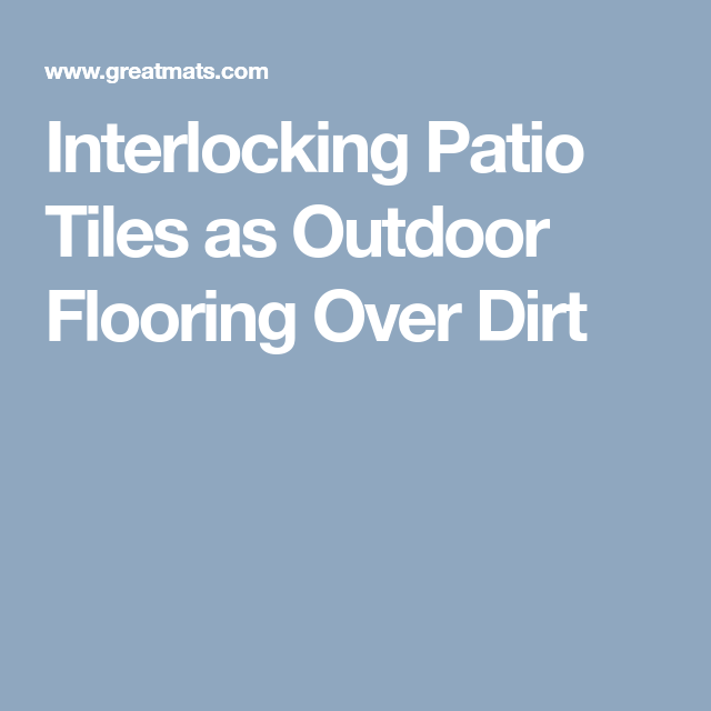 Patio Flooring Ideas Over Dirt: StayLock Tile Perforated Black