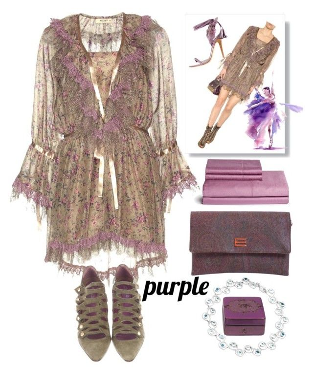 """""""Etro dress"""" by grinevagh ❤ liked on Polyvore featuring Etro"""