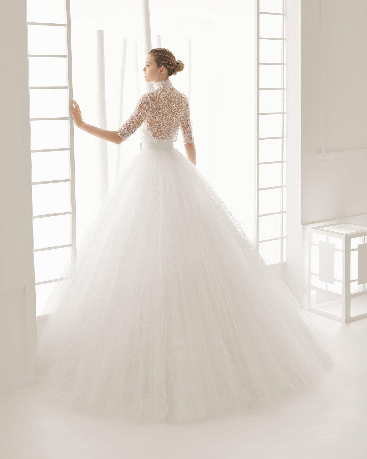 Vestidos de novia y vestidos de fiesta | Faldas de tul, Rosa clará y ...