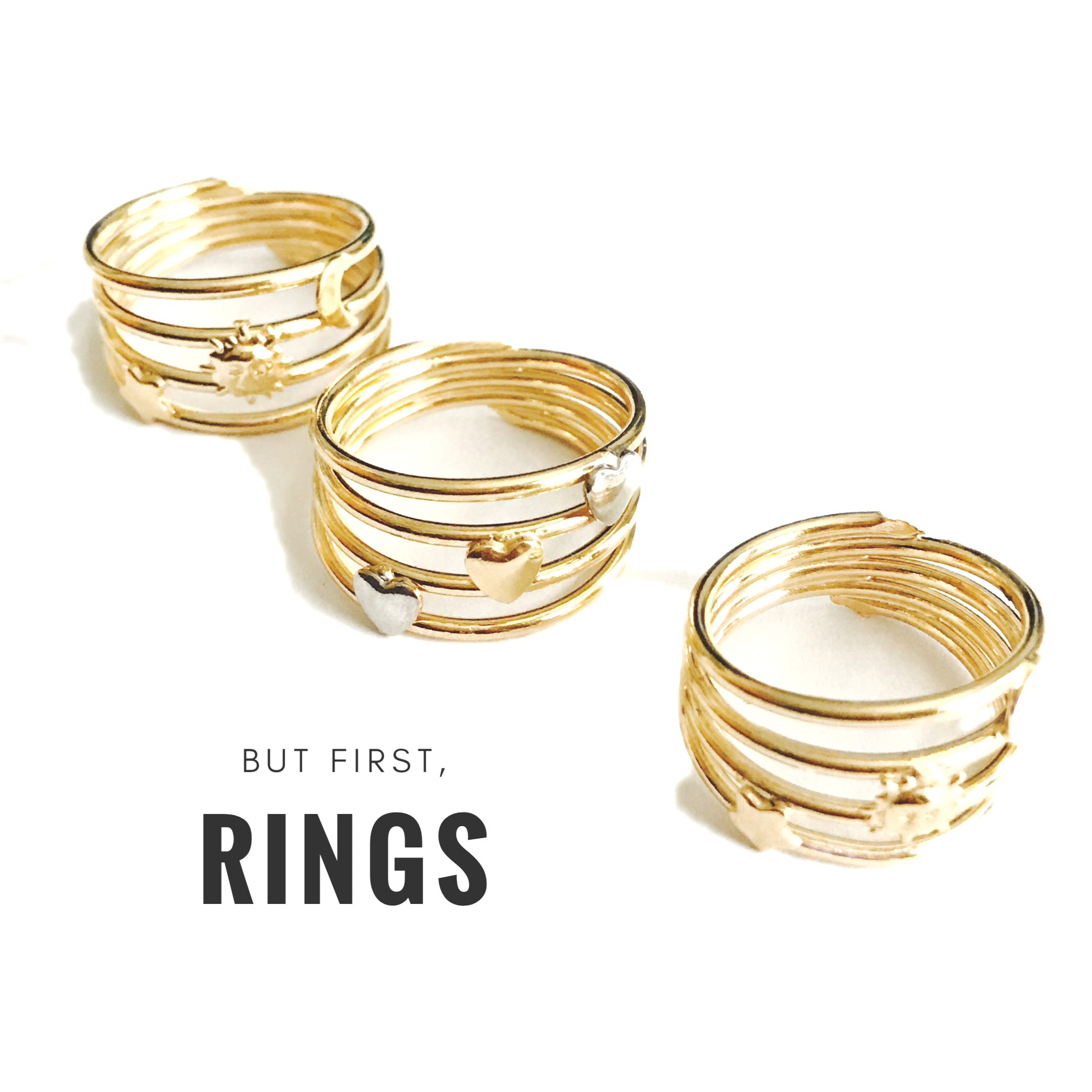 8a2caf252 18kTs of Brazilian Gold Plated Stackable's Rings | Gold Plated ...