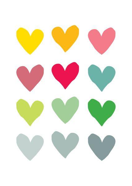Heart pattern art Art Print by Hello Olive Designs