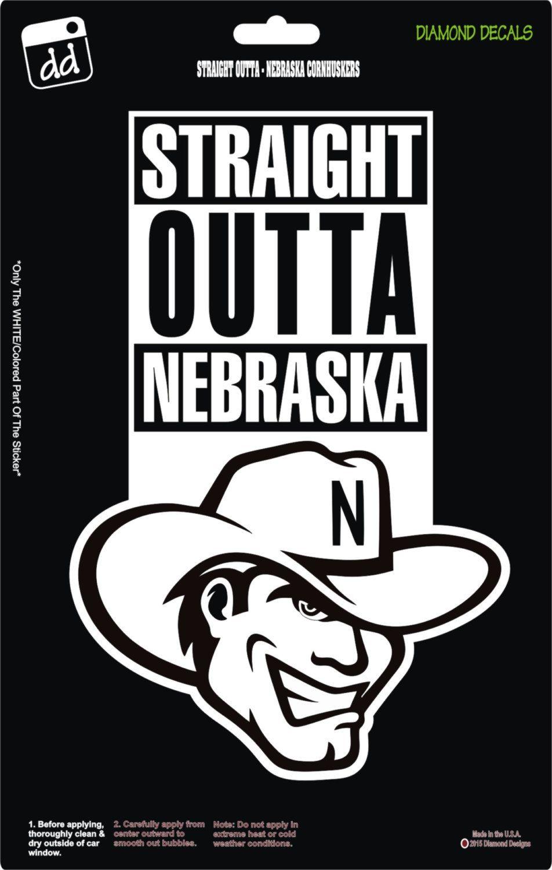 Straight Outta Nebraska Cornhuskers College Ncaa Football Logo Decal Vinyl Sticker Car Truck Window Laptop Ncaa Football Logos Nebraska Cornhuskers Nebraska