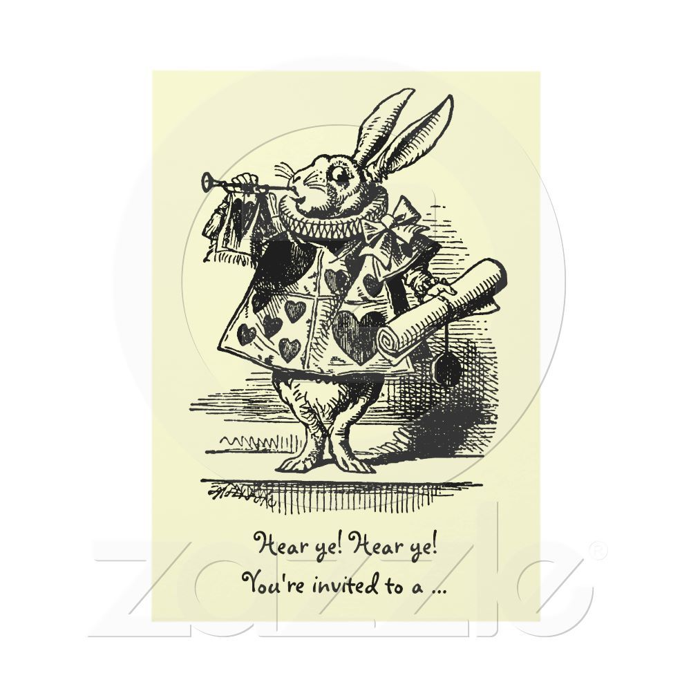 Vintage Alice in Wonderland Baby Shower Invitation | Karty, Vintage ...