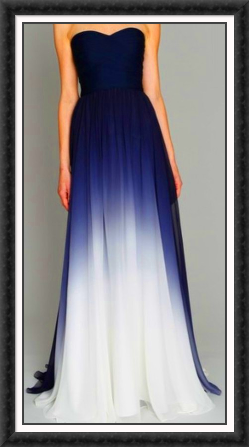 Gorgeous Bluewhite Formal Gown Possible Wedding Dress Ange Strock