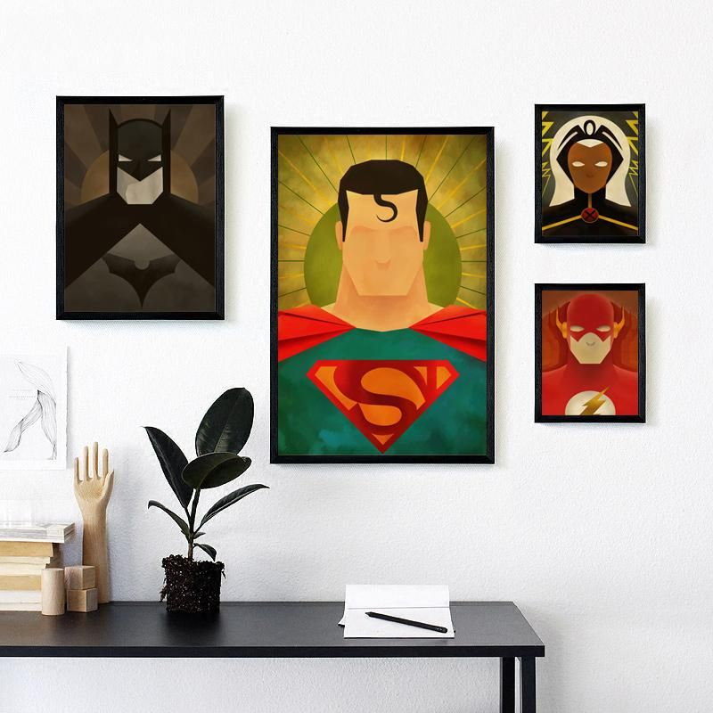 Superhero Avenger Flash Cartoon Marvel Comics Canvas Painting Art Print  Poster Picture Wall Painting Home Decor