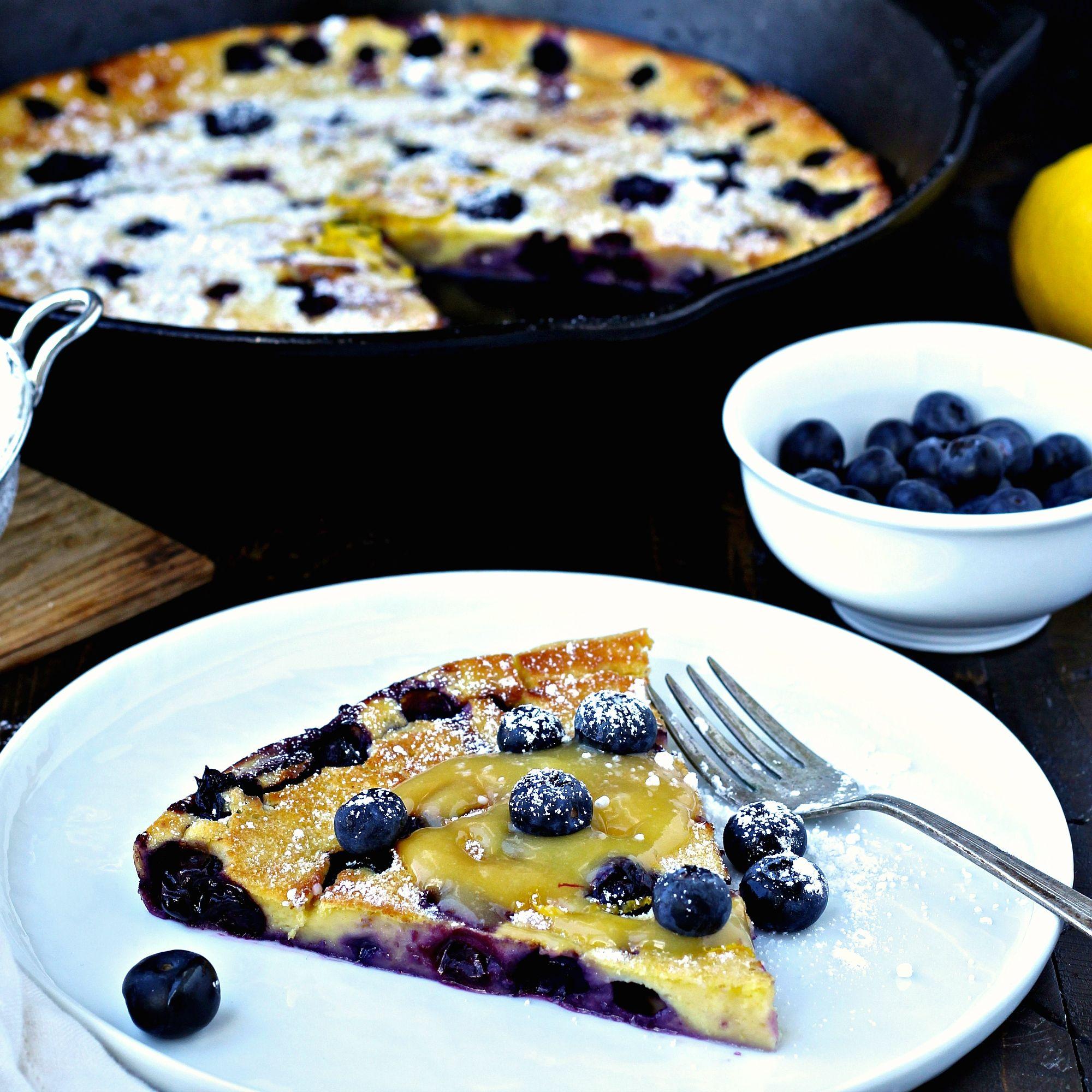 Blueberry Lemon Dutch Baby | Quick, easy breakfast, Food ...