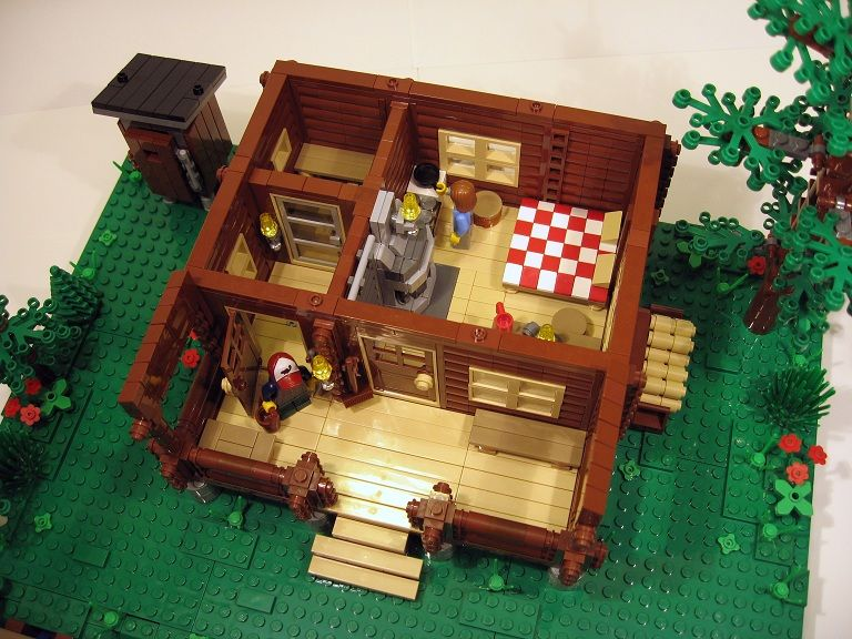 Log Cabin Two Seasons Lego Pictures Lego Projects Lego House