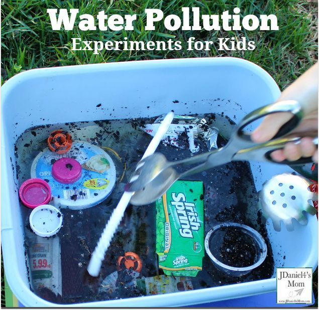 Water Pollution Experiments for Kids - Kids will complete ...