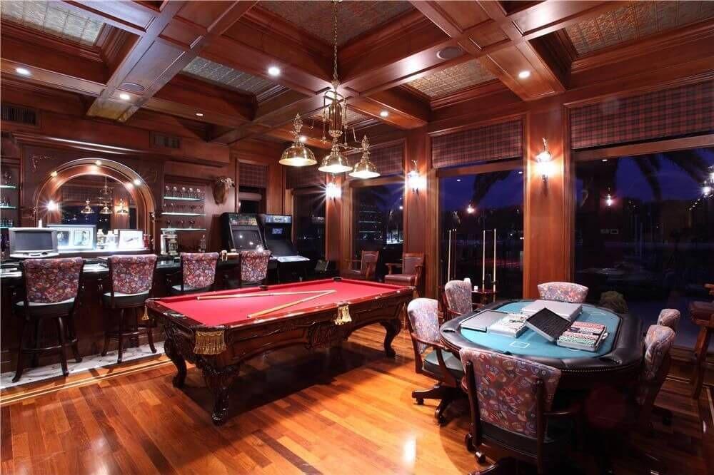 Man Cave Bar Games : Pub inspired basement bar and pool table basements