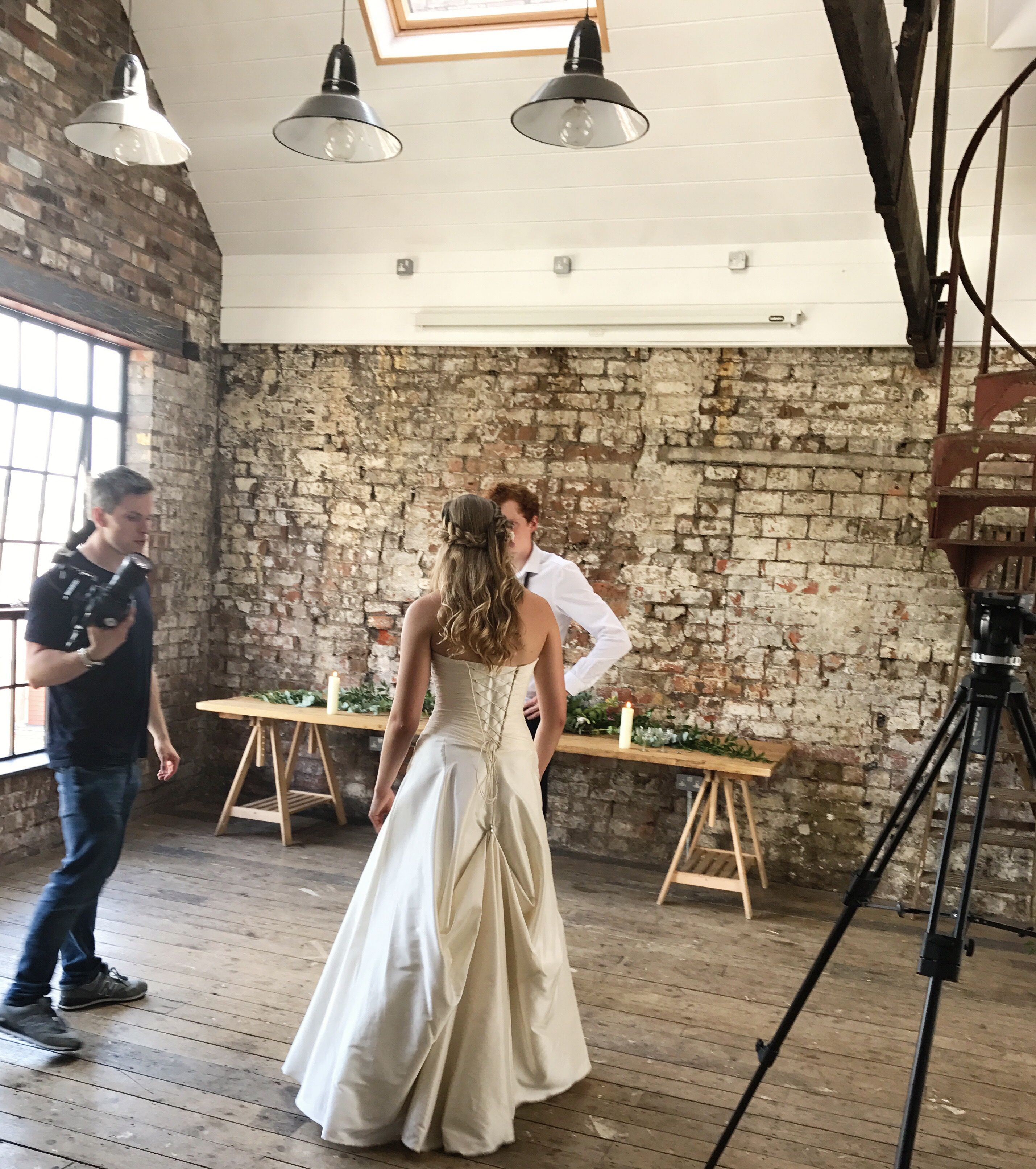 A Flashback To The Filming Of Trainloop Just Perfect For Your First Wedding Dance A Simple Solution To Bustle Wedding Dress Train Dress Train Wedding Dance