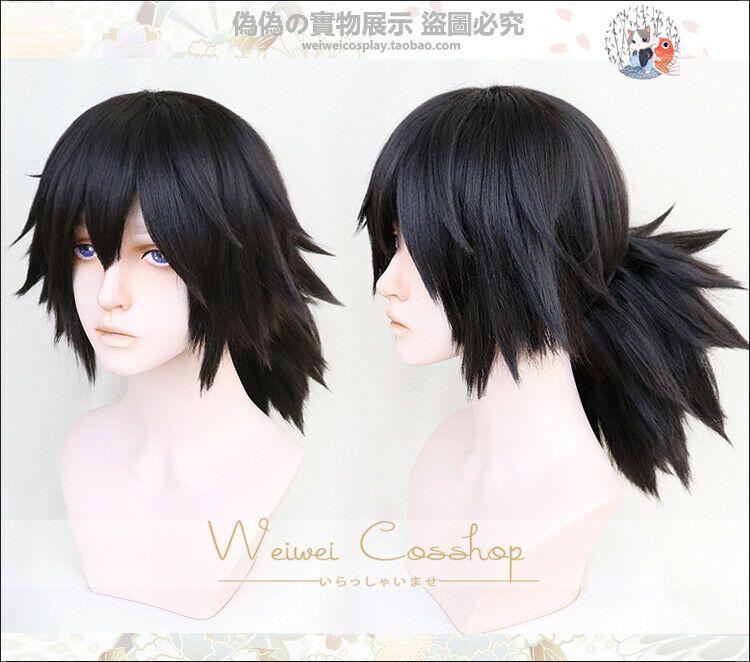 Kimetsu no Yaiba Tanjiro Kamado Cosplay Wig Cosplay Costume Hair Demon Slayer