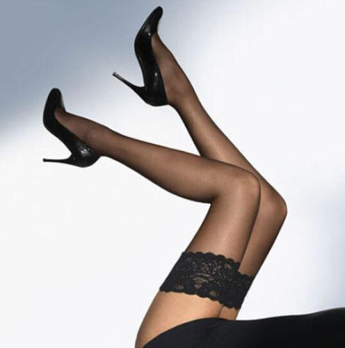 a703c4c43 High SexyLady Sheer Ultrathin Lace Top Stay Up Over The Knee Thigh High  Stocking