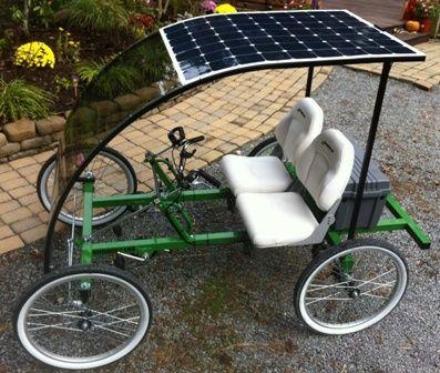 2 Person 4 Wheel Sportped E Two Quadricycle Rhoades Car