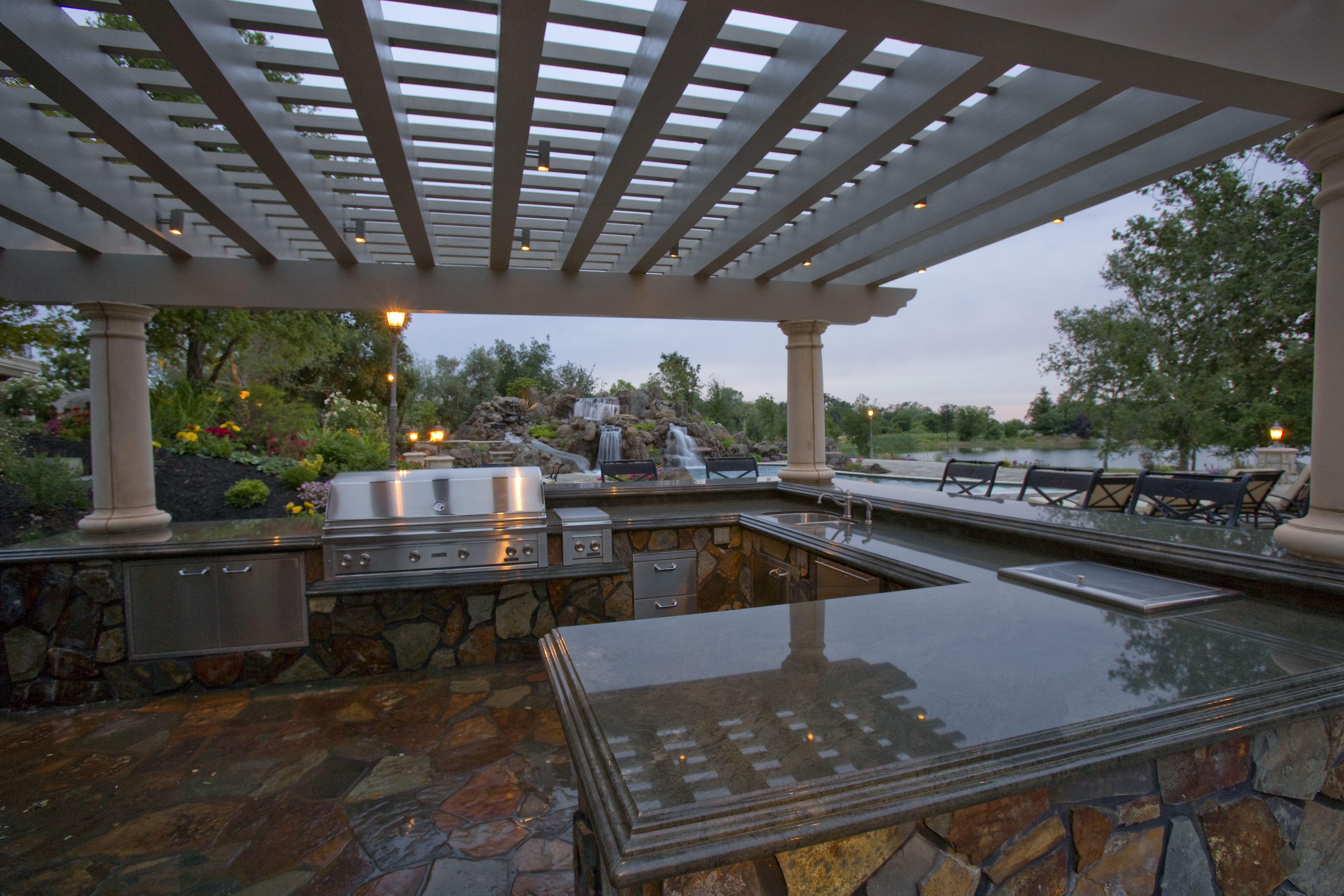 Outdoor Granite Kitchen http//www.artisticstoneworksinc