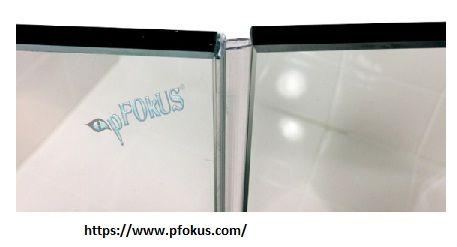 Ds100 Frameless Shower Door Seal Med Bilder