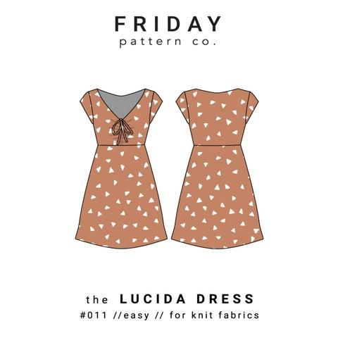 Friday Pattern Co. Lucida Dress Pattern (paper) by Bobbie Lou\'s ...