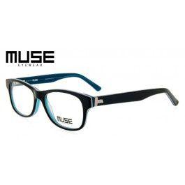 5cd3e00bb8 Muse Harley Black w Turquoise Prescription Eyeglasses From  89