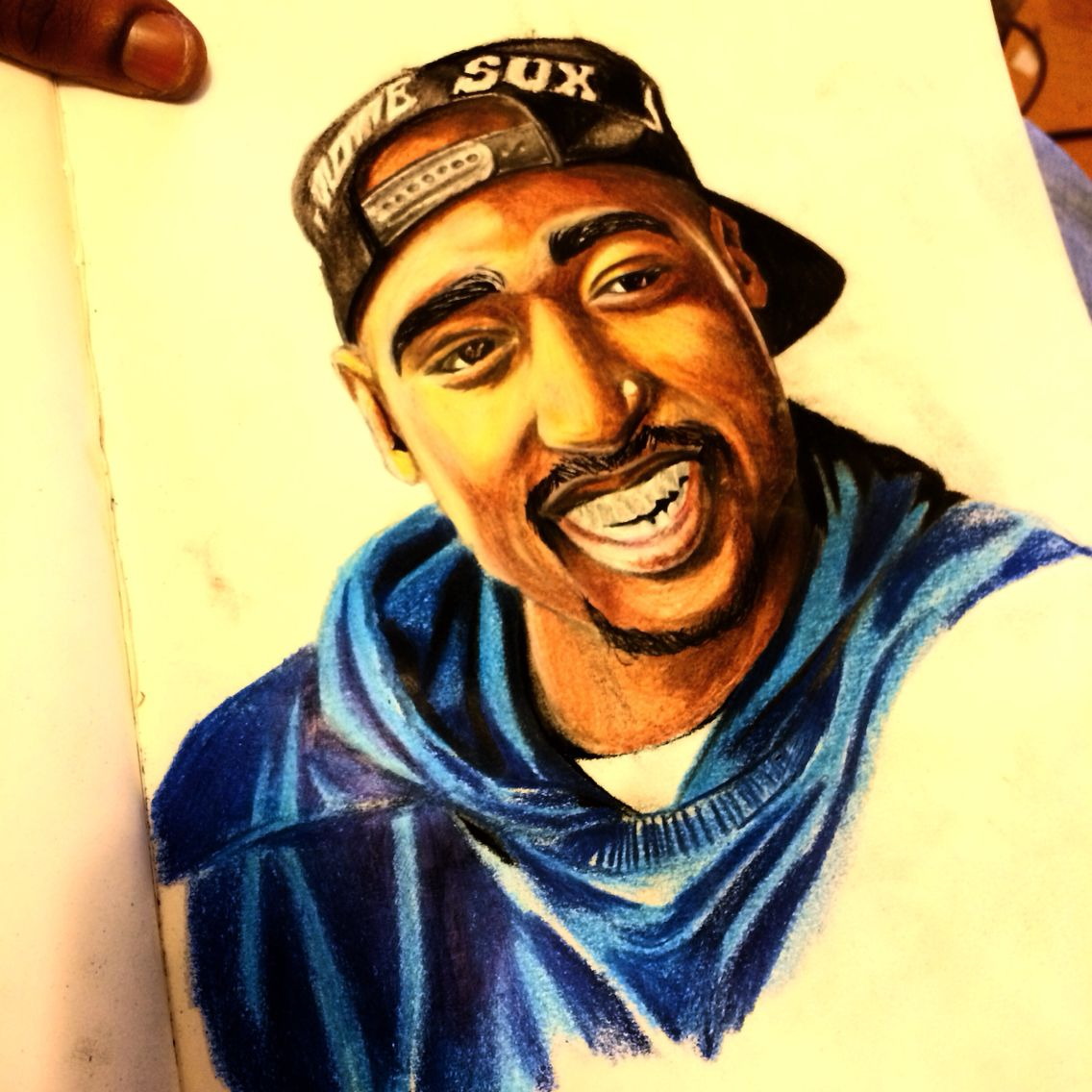 Drawingcolor Finished Tupac Drawing Color Pencils Diverse Artwork