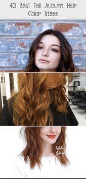 40 Best Fall Auburn Hair Color Ideas, #auburn #auburnhairstyleslong #best #hair …