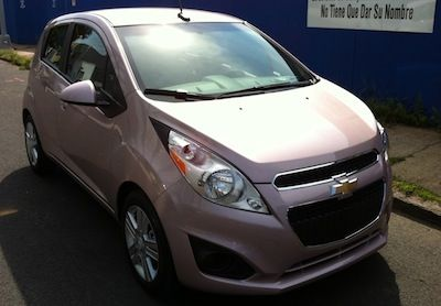 A Car In Pink That Looks Right Finally The Chevy Spark In Techno
