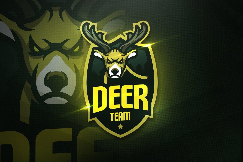 Deer Team - Mascot & Esport Logo by aqrstudio on Envato Elements