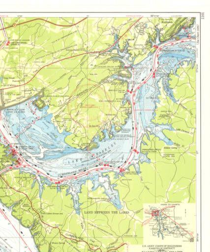 Navigation chart Cumberland River Lake Barkley Maps Maps