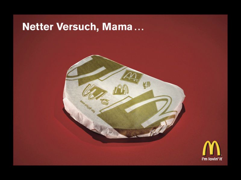 "<b>Bereich Plakate und Poster, Bronze für McDonald's Österreich, ""Butterbrot"" </b> Agentur: GBK Heye Werbeagentur GmbH. Auftraggeber : McDonald's Werbeges. m.b.H. Marketingleitung: Hannes Wuchterl. Creative Direction: Alexander Bartel,  Martin Kießling. Art Direction: Zeljko Pezely. Werbeleitung: Robert Markowitsch. Text: Marcel Koop"