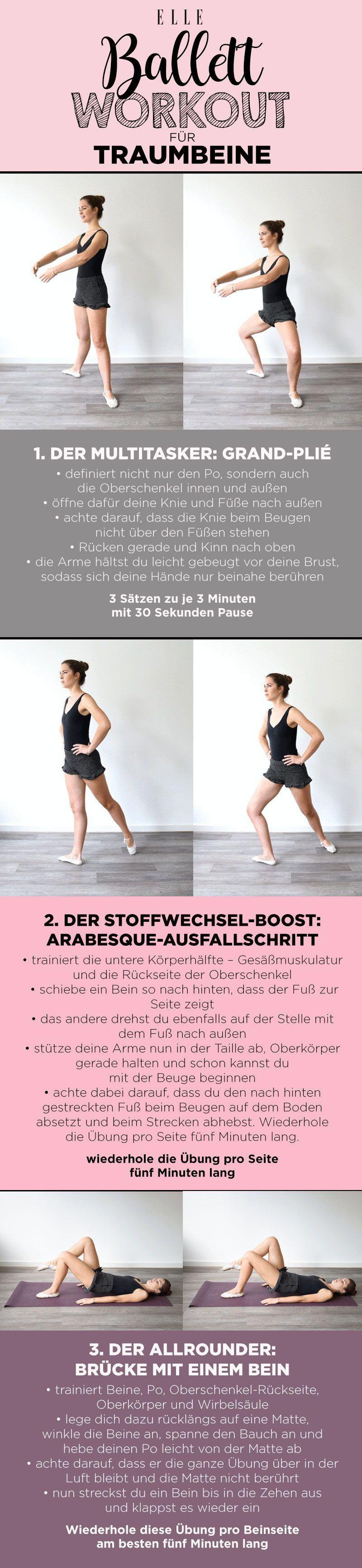 Ballett-Workout definierte Beine: 3 Profi-Übungen #balletfitness Ballett-Workout: drei Profi-Übungen...