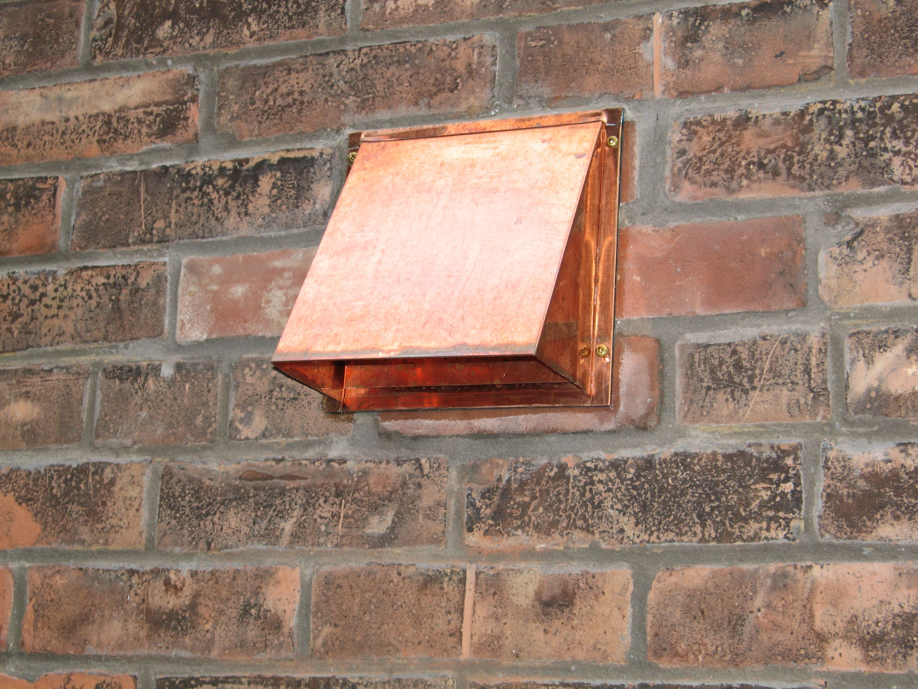 Now That S A Classy Wall Termination This Copper Hood Is