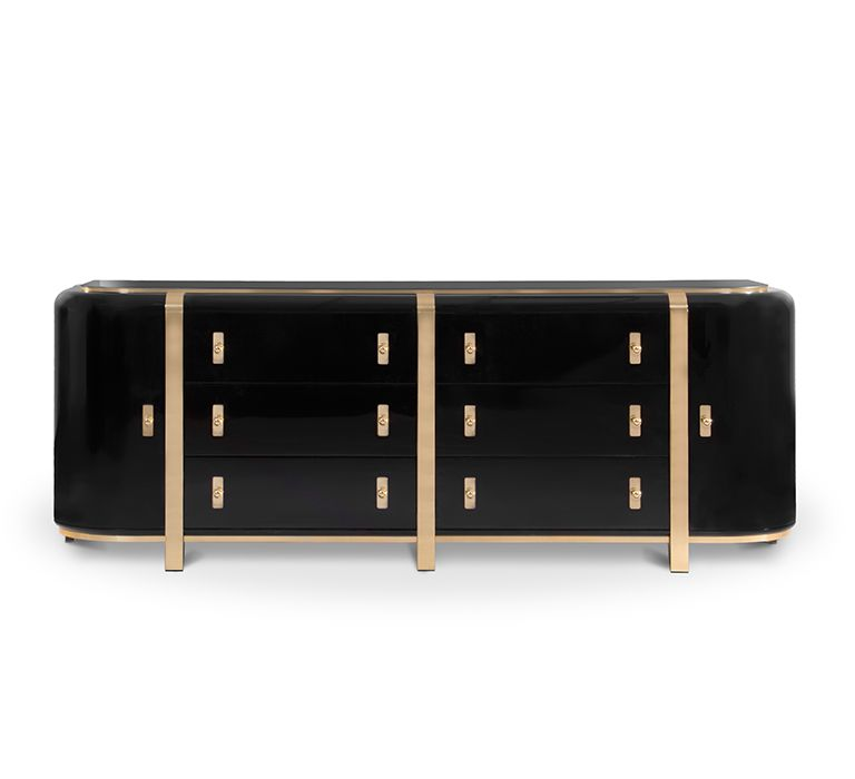 a sideboard with a strong presence while preserving clean lines rh pinterest com