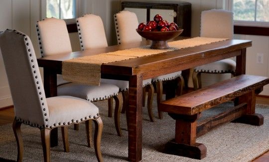 Made From Reclaimed Wood In Baltimore Md The Admiral S Dining Table Sandtown Millworks