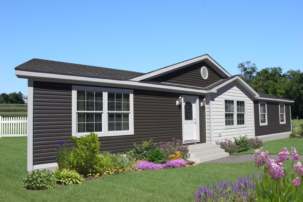 sk957a nova ranch home exterior featuring a double dormer and shake siding on the bump - Ranch Home Exterior