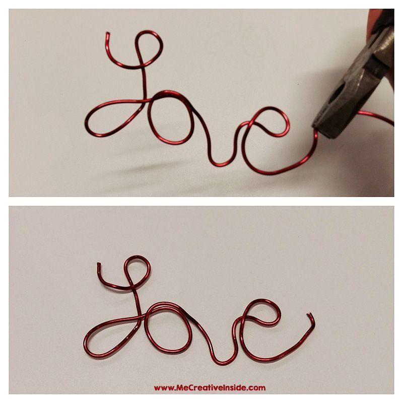 Scritta Love spago fil di ferro San Valentino Me CreativeInside